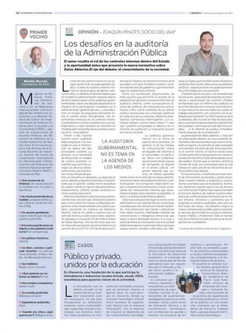 Los desafíos en la auditoría de la Administración Pública