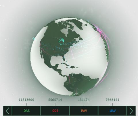 Ciberamenaza: Mapa en Tiempo Real